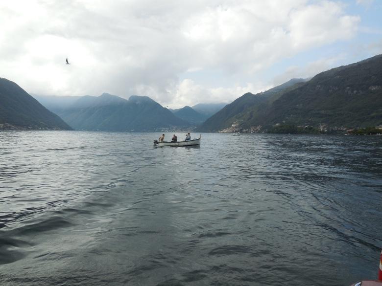 Fishermen on Lake Como