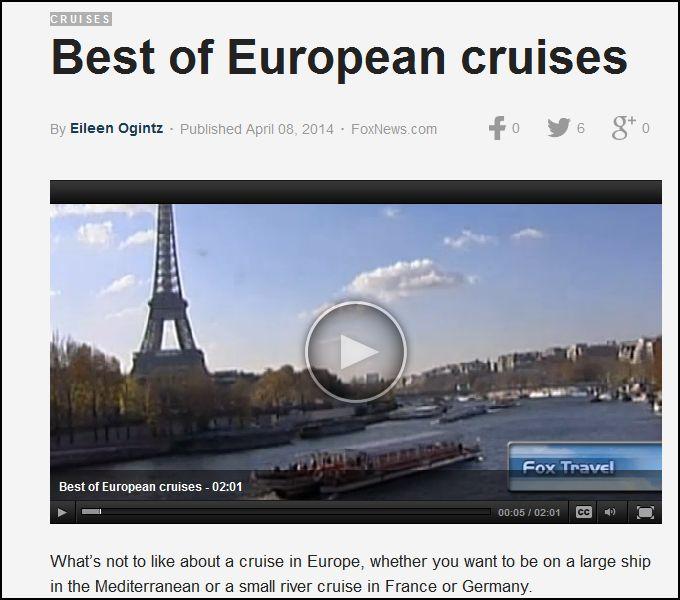 Eileen's top Europe cruise picks on Foxnews.com