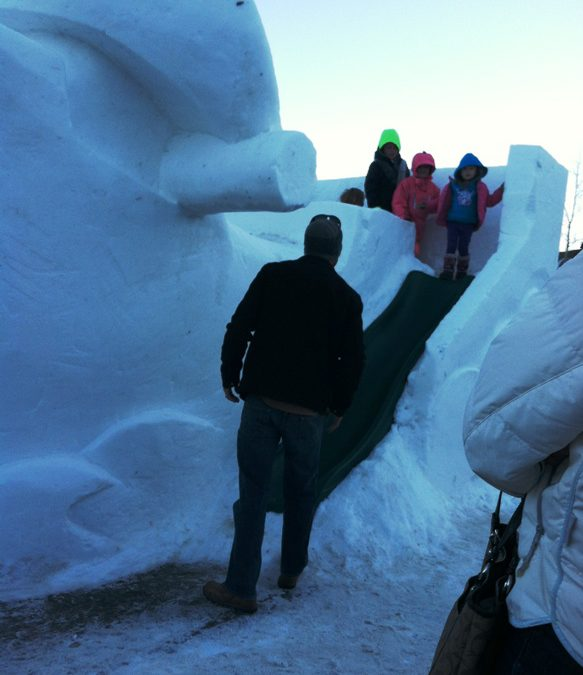 Carving snow and ice In Breckenridge CO — you can do this at home!