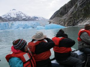 Getting close but not too close to the Dawes Glacier