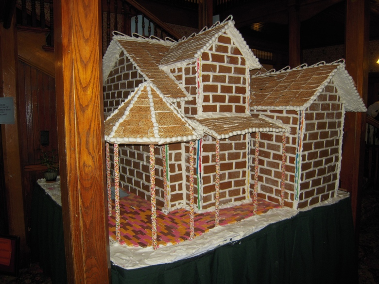 Gingerbread house building at Mohonk Mountain House