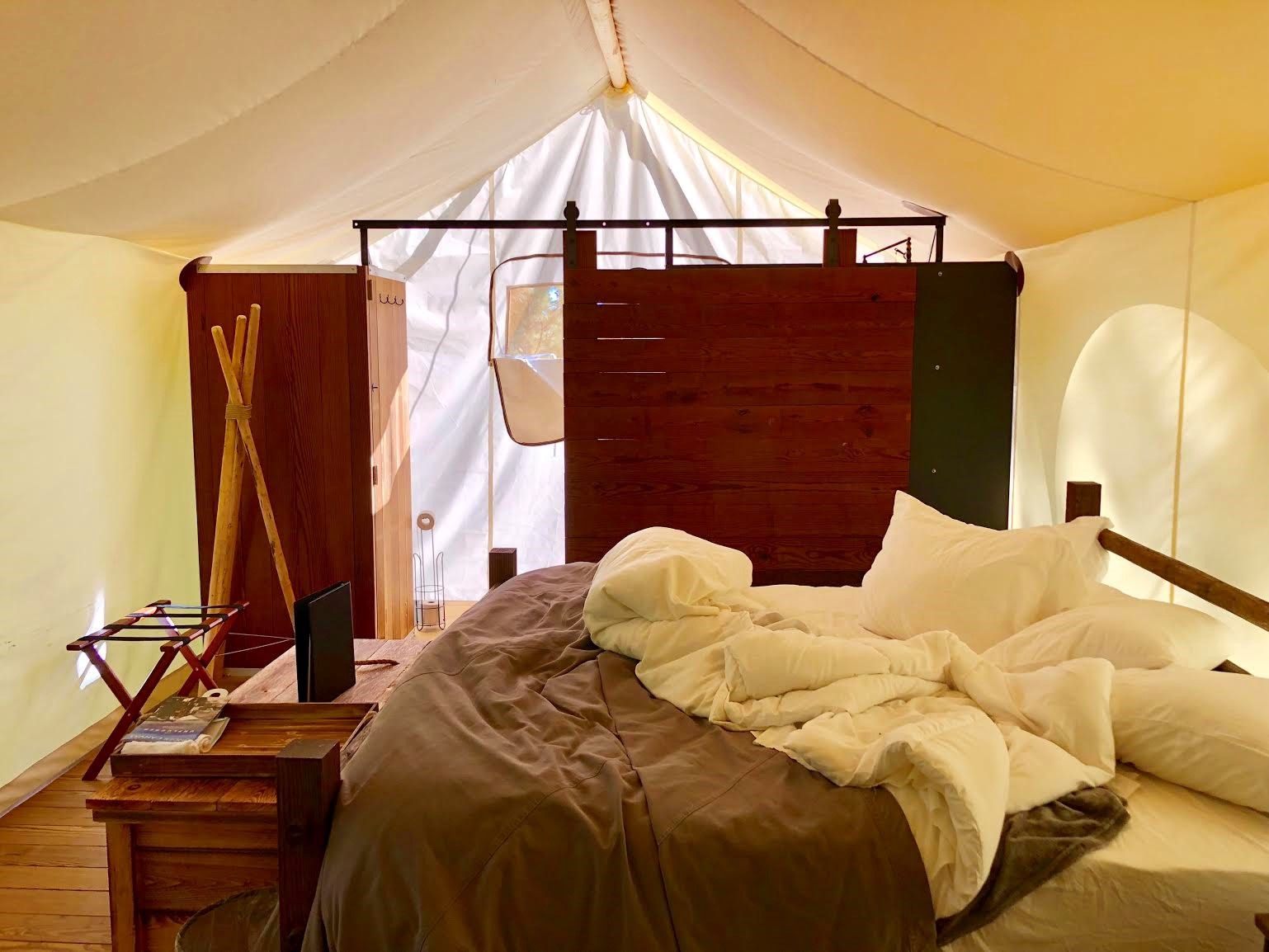 Glamping under the stars, with a touch of posh style