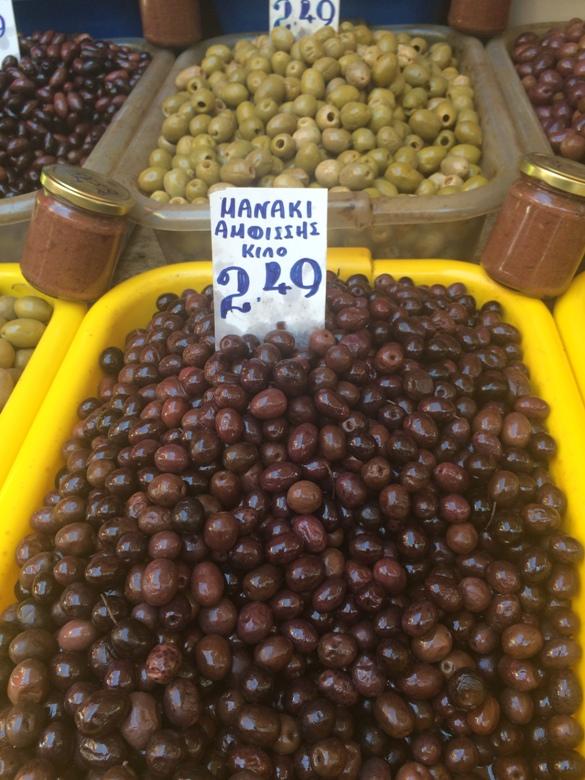Greek olives in Athens