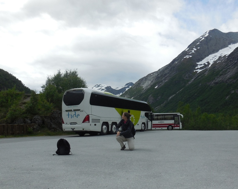 Guide Kira Butler on our road trip in Norway