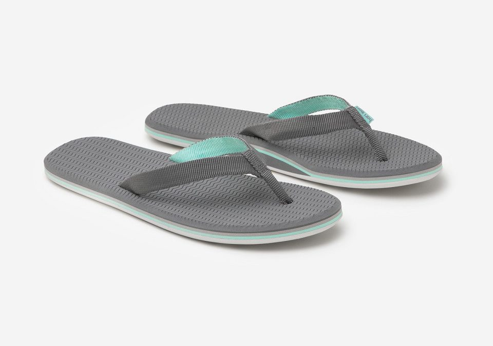 Stylish flip-flops for travel and to help children with cancer