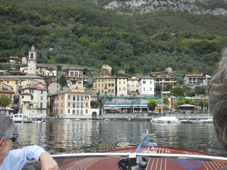 Heading in for lunch on Lake Como