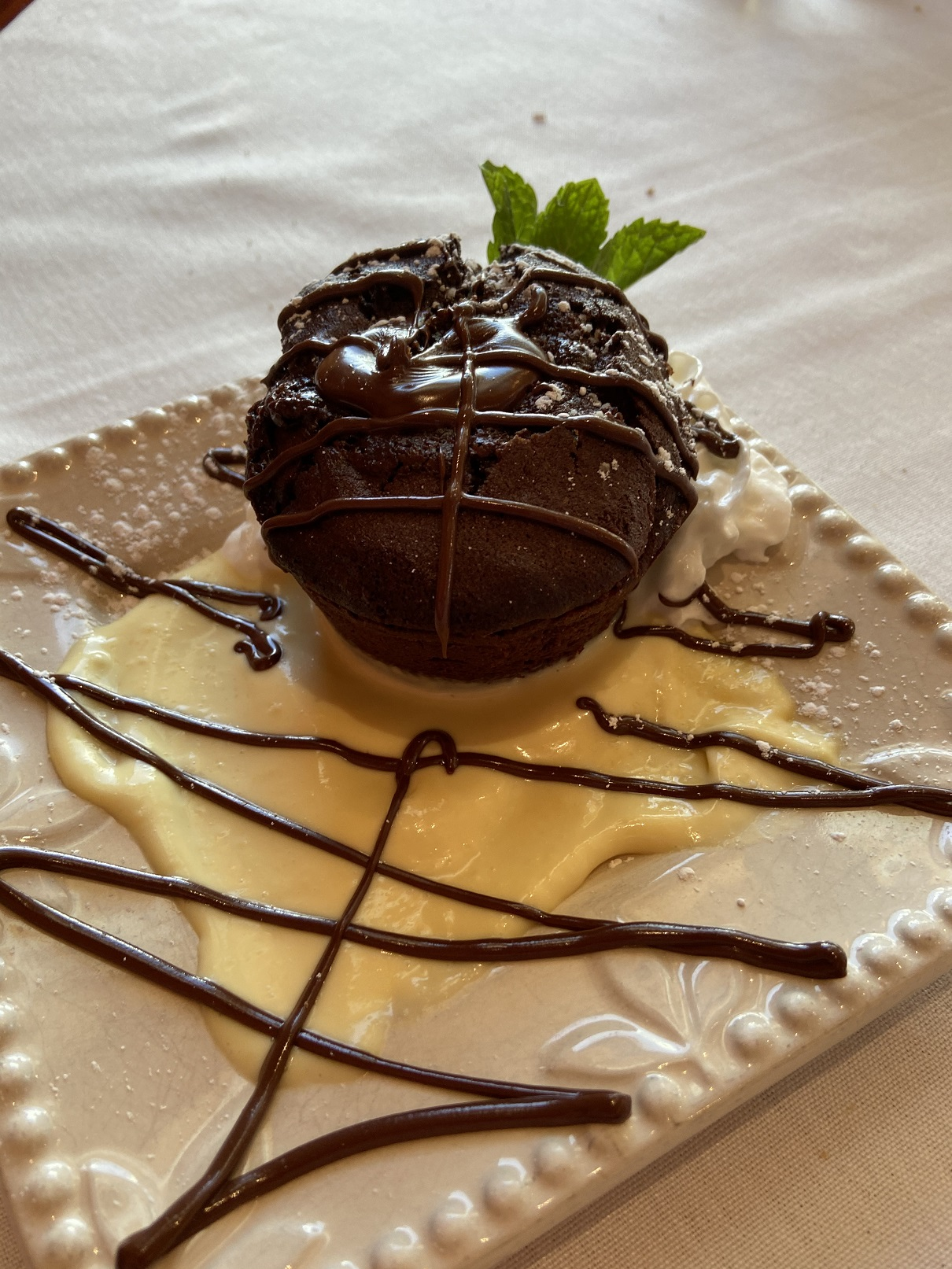 Heart of Darknness chocolate cake at Collins Grill at the Alta Ski Resort