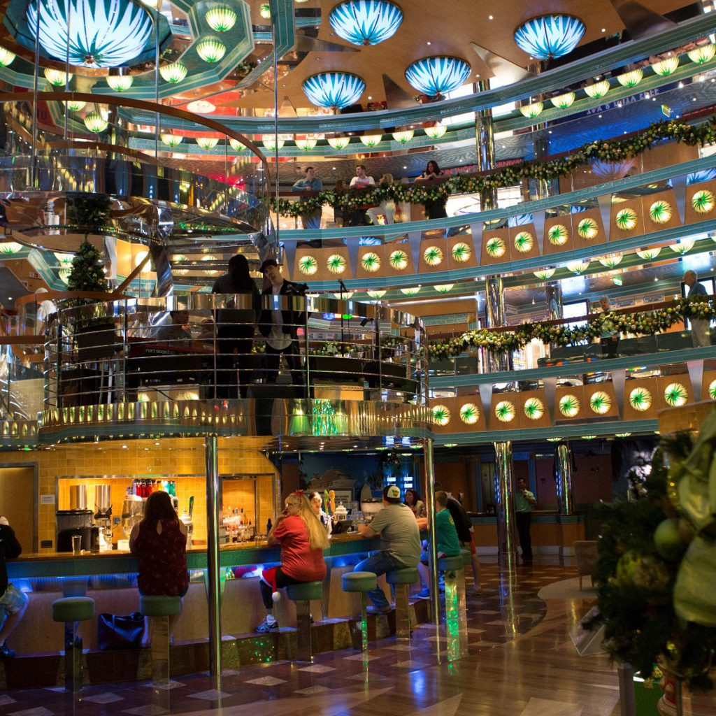 Carnival's ships are all decked out for the holidays