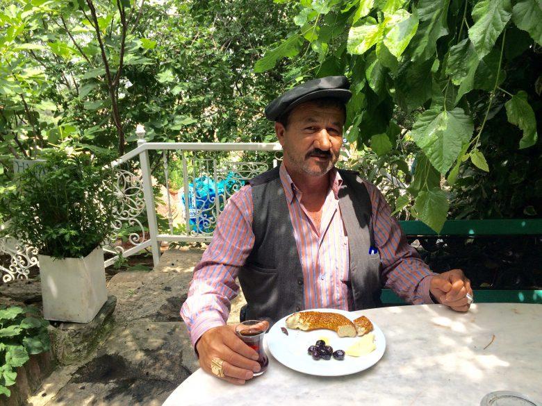 In courtyard at Nisanyan Hotel in village of Sirince on island of Kusadasi