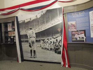 Inside the Babe Ruth Museum in Baltimore