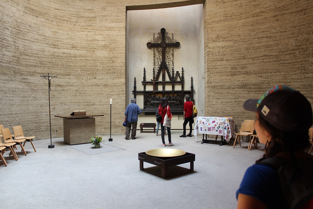 Inside the Reconciliation Chapel along the Berlin Wall