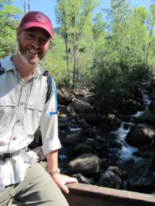 Jim Kravitz leads a nature walk above Aspen for ACES