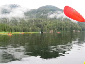 Kayaking in the Salt Chuck near Port Houghton in SE Alaska