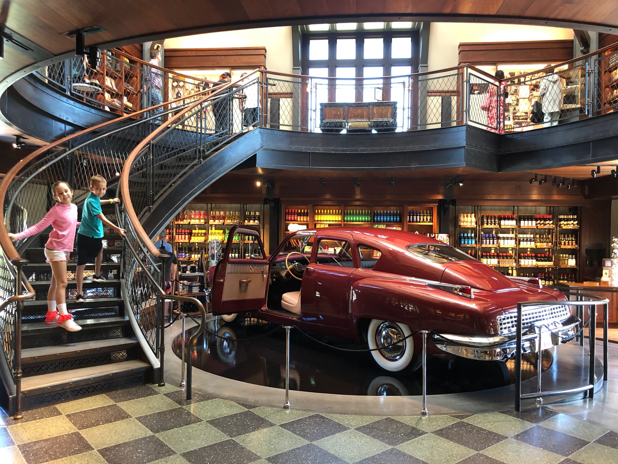 Kids can check out the fun movie memorabilia at Francis Ford Coppola winery