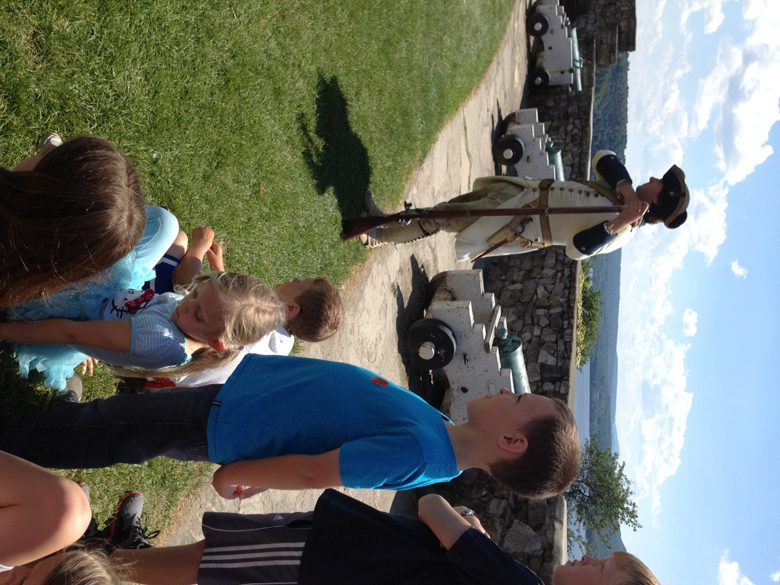 Kids taking in a history lesson at Fort Ticonderoga