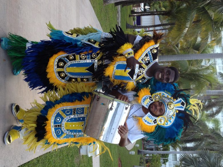 Learn a little Bahamian culture with Junkanoo parade at grand Bahama resort where we stayed