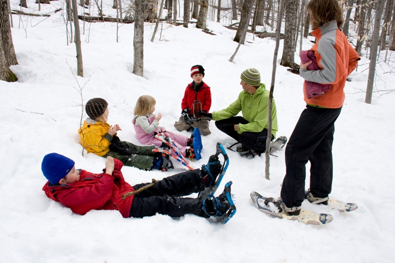 Snowshoeing – the quieter side of a winter vacation, day or weekend