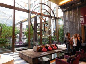 Lobby of the Mandarin Oriental in Paris