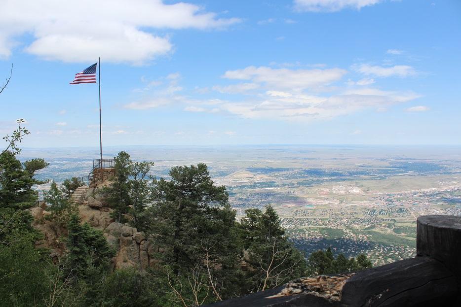 Looking east toward the Kansas-Colorado border from Cloud Camp