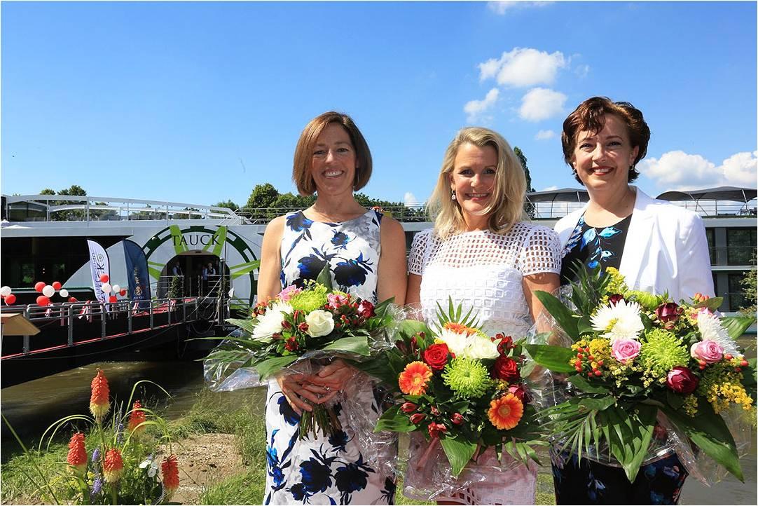 MS Joy godmothers at christening ceremony
