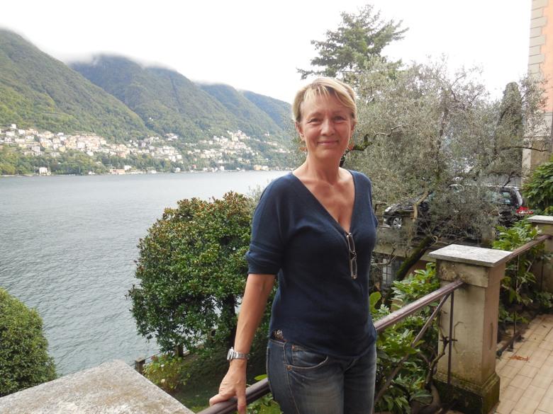 Manuela Nuti at her villa on Lake Como