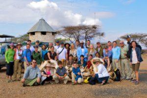 Margaret Harvey (far right) and family in Kenya