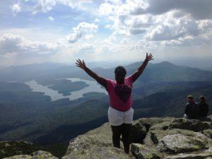 Massou Traore enjoying the summit of Whiteface Mountain