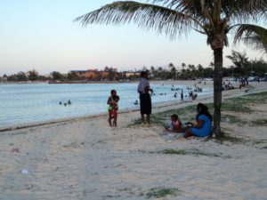 Meeting locals in the beach to beach programs in the Bahamas