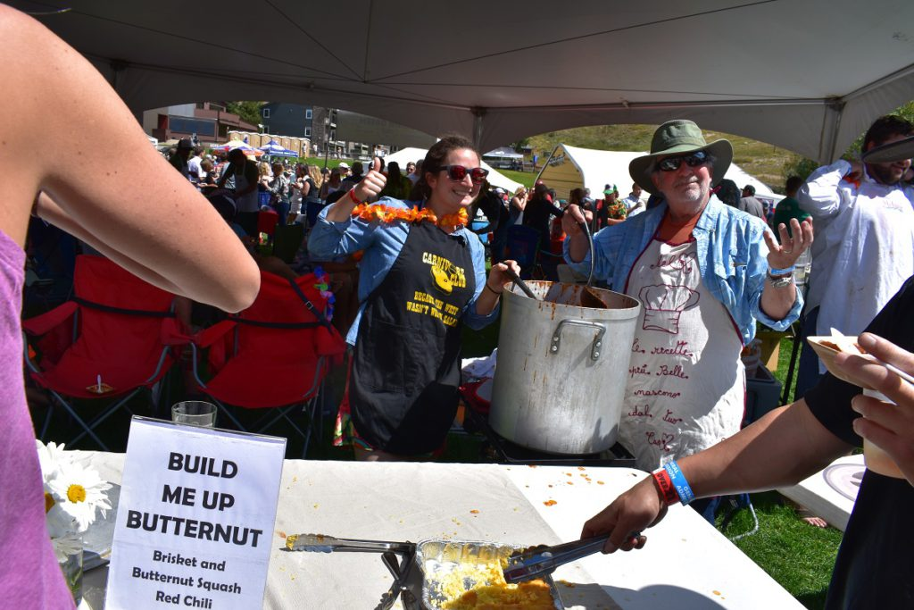 Mel and Andy dish out their Build Me Up Butternut red chili