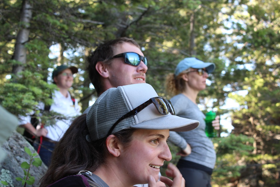 Mel and Hank on our 5mile hike at Cloud Camp