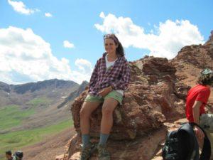 Mel at top of Maroon Pass