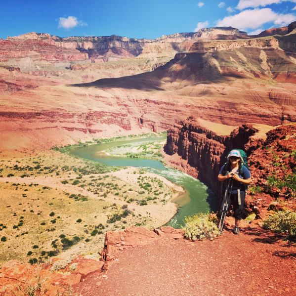 Mel hiking in the Grand Canyon
