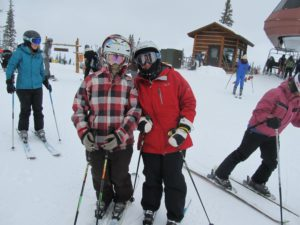 Mel with Eileen before she ditched us at Beaver Creek