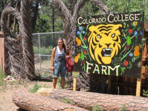 Melanie at the CC Student Farm