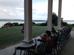 On the terrace at Mount Vernon