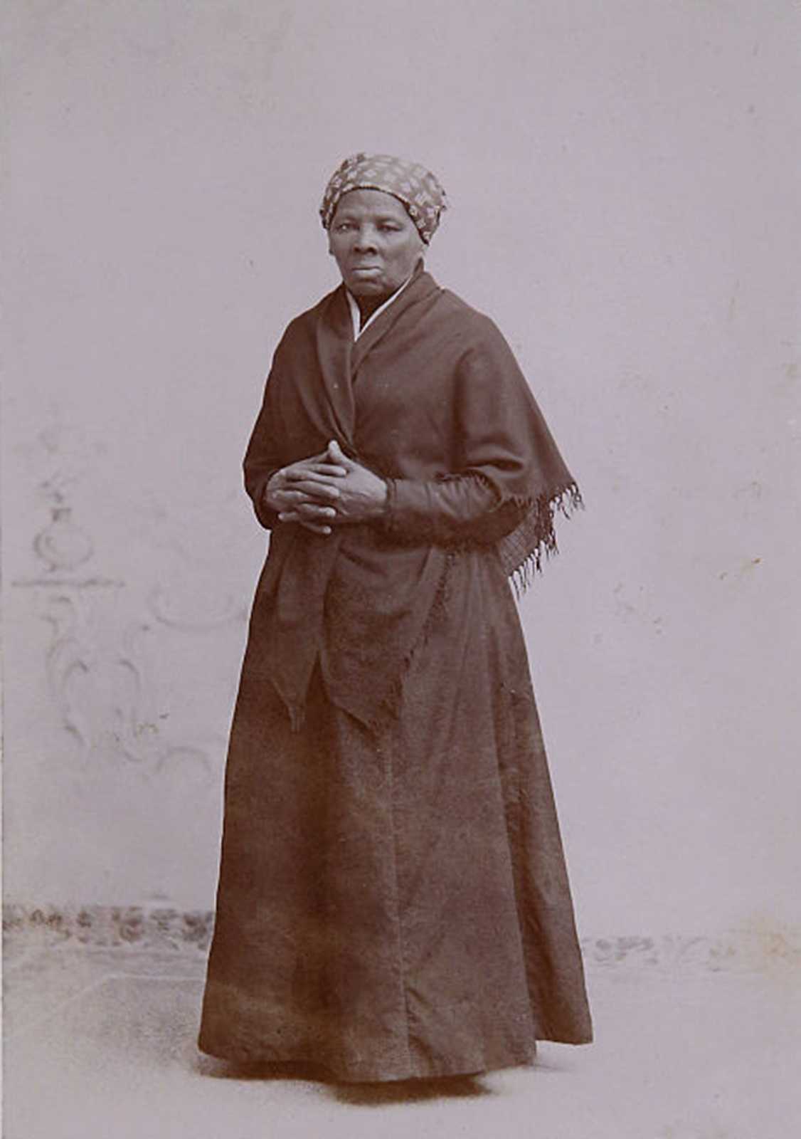 A photograph of escaped slave, abolitionist and Union spy Harriet Tubman that was acquired by the Smithsonian is displayed before a hearing of the House Administration Committee in the Longworth House Office Building on Capitol Hill on June 17, 2015, in Washington, D.C. (Chip Somodevilla/Getty Images/TNS)