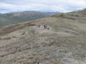 On the Camp Ridge trail above Camp Denali