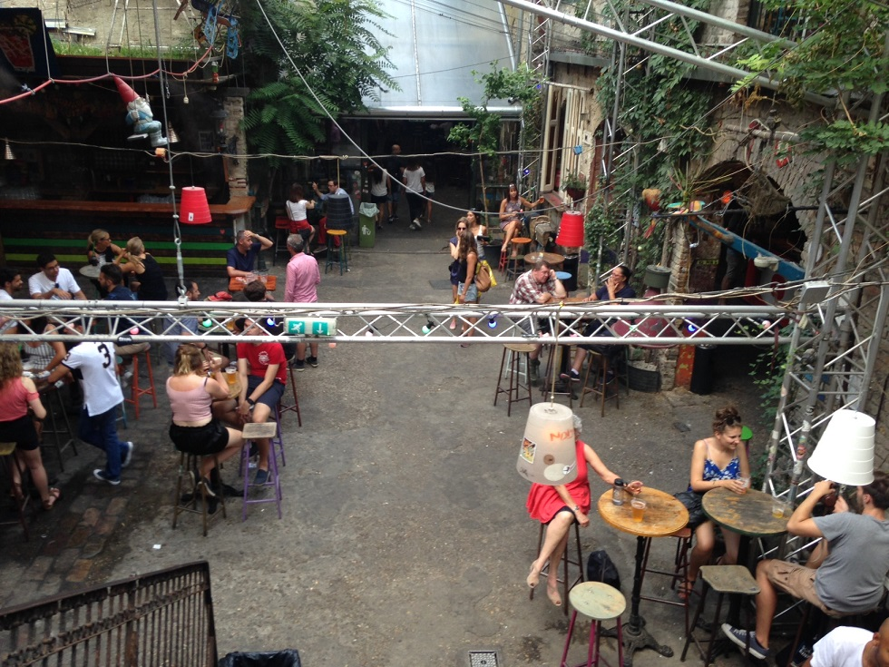 One of the many Ruins Bars in the old section of Budapest