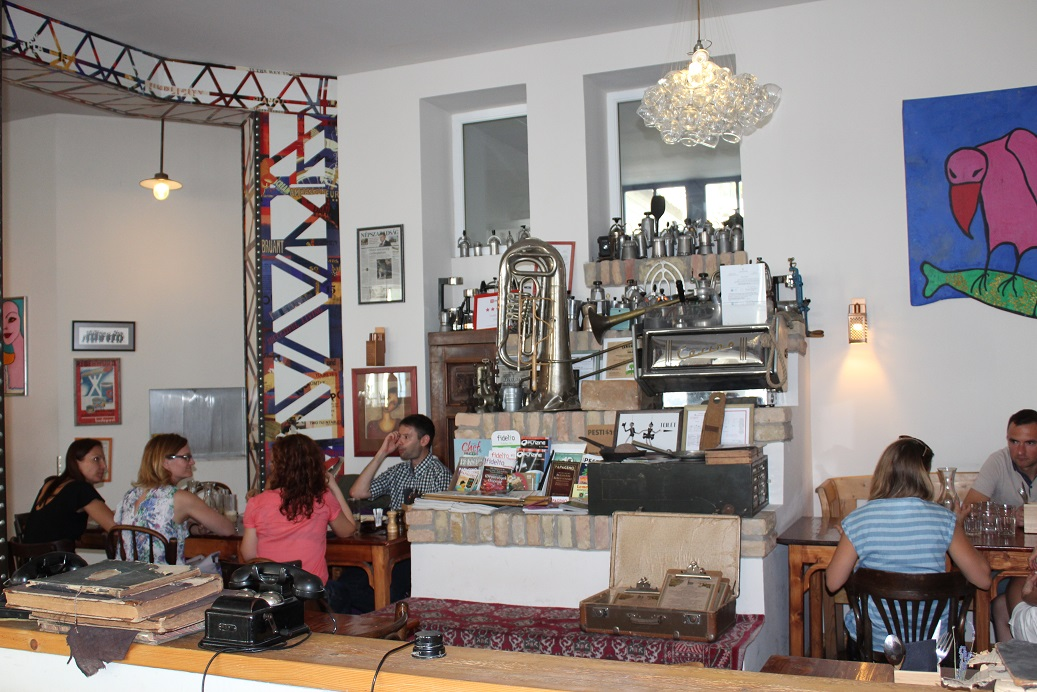 One of the many hip restaurants in the Jewish Quarter of Budapest
