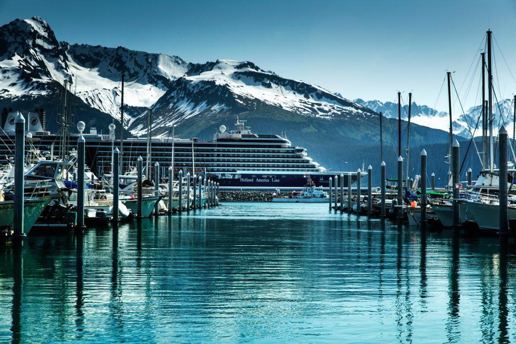 Holland America's Ooosterdam in Seward Alaska