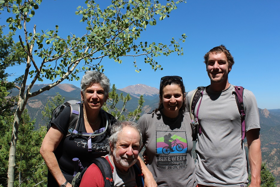 Our group at the end of the 5mile hike with Pikes Peak in background