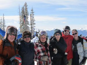Our group gathers for a photo atop Keystone Mountain
