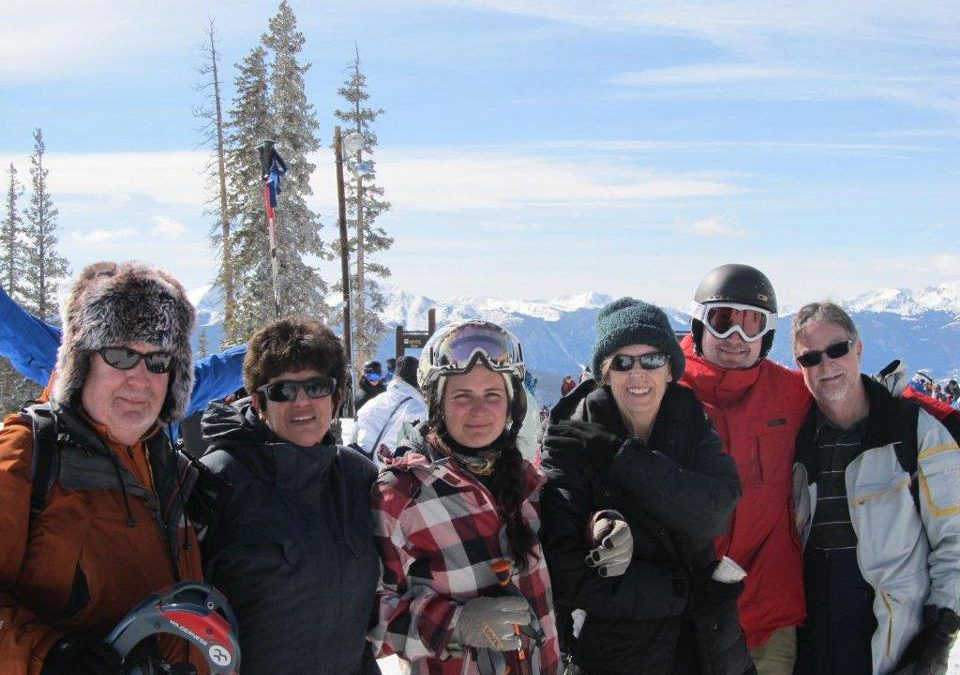 A family reunion on the snow in Colorado
