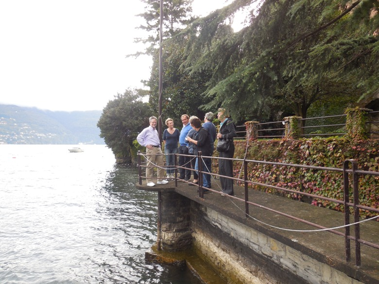 Our group getting a tour of Villa Mahonia on Lake Como
