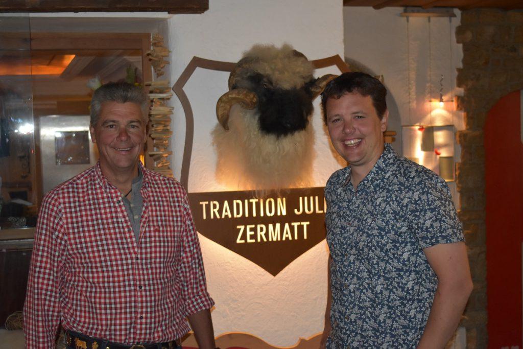 Paul Marc Julen (r) and his father Paul Julen