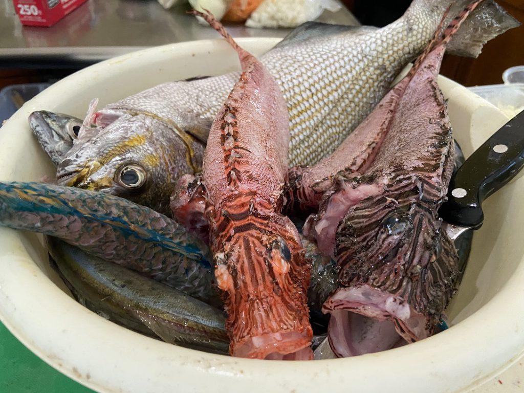 The fish prior to cooking at Star San Villa