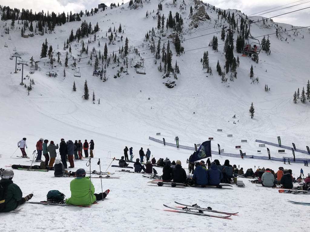 Extreme ski and board competition at Snowbird March 18, 2021