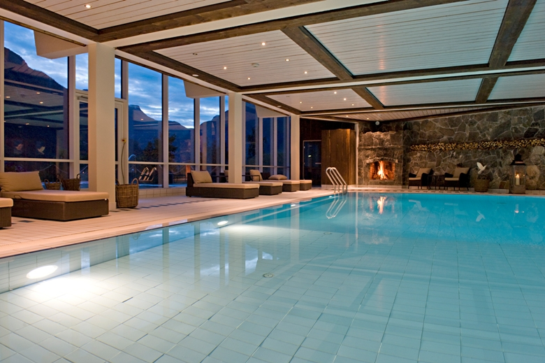 At the Hotel Union (and spa) in Geiranger, Norway
