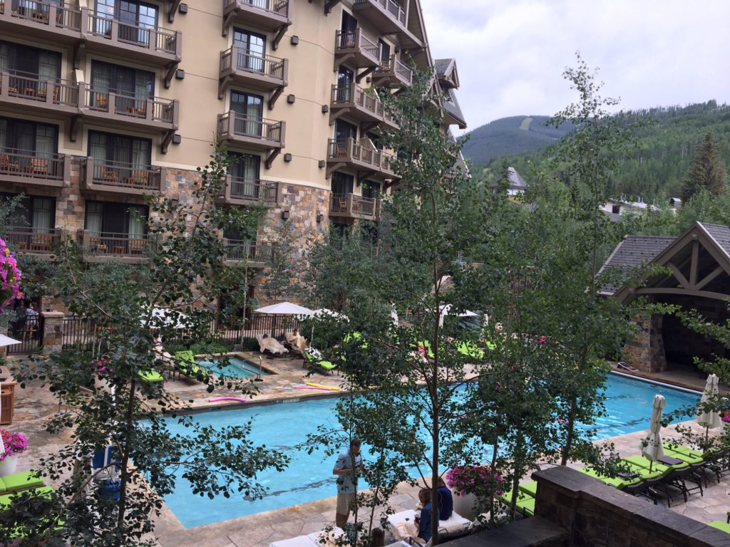Pool area at Four Seasons in Vail