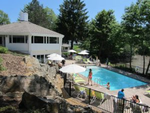 Poolside at the Lodge on the Cove in Kennebunkport ME